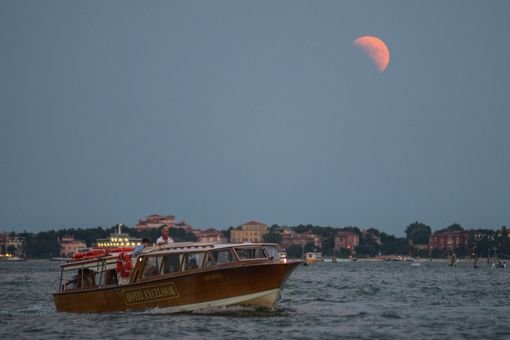 The moon in Venice